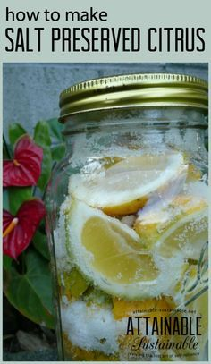 Preserving lemons with salt is an easy way to have that fresh lemon flavor on hand for cooking all year long.