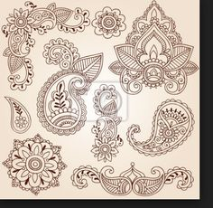 Henna Tatoo pattern that I would like to use to try to make icing decorations for cupcakes.