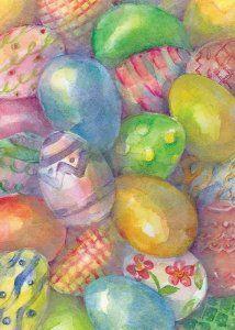 Easter Eggs Garden Flag - Easter Garden Decorations