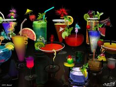 3d alcohol drinks