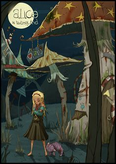 Alice in Wonderland by lemon sky