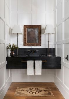 Powder Room Design, Elegant Homes, Bathroom Interior Design, Bathroom Sink Design, Eclectic Bathroom, Beautiful Bathrooms, Elle Decor, Bathroom Inspiration, Small Bathroom