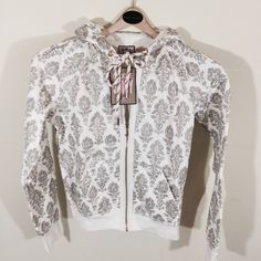 NWT - Choose Juicy Hoodie NWT - Juicy Couture. - Midnight Gold Hoodie - Size Medium - 98% cotton 2% polyester - Made  in USA - Brand New Juicy Couture Jackets & Coats