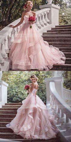 bridal dress 15 schöne rosa Brautkleider