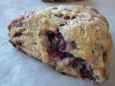 A delicious gluten free twist on the blackberry scone.