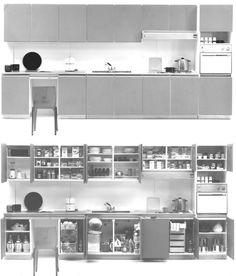 Cucina E5, Marco Zanuso, Elam, 1966, courtesy Elam System _ 9/12 La tecnica dell'epifania del design contemporaneo