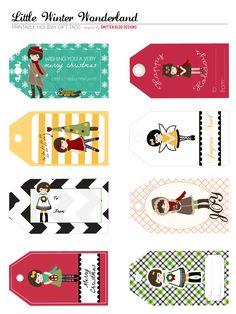 Free, modern, printable gift tags & more...