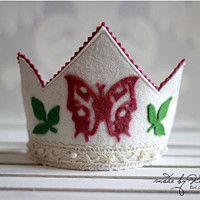 Felt Crowns for Kids #butterfly #crown #felt #gils #kids #KashKi