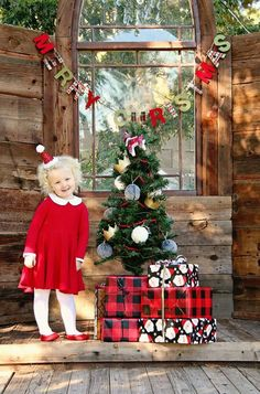 Organic Cotton Knit Gingerbread Plaid Swing Dress by VivieAndAsh Christmas Tree Farm, Christmas Minis, Christmas Holidays, Christmas Cards, Country Christmas, Family Christmas, Christmas Stuff, Holiday Cards, Christmas Ideas