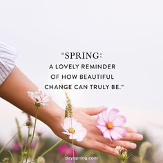"""As spring starts to surface and the trees begin to bloom, we can see God's reminder to align our hearts to the new thing He's doing. Let us go to Him in prayer, asking Jesus to help us embrace all the """"new"""" he has in store for us."""