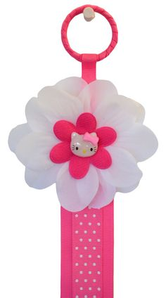 3 Foot Pink Kitty Hair Bow Holder by FunnyGirlDesigns on Etsy