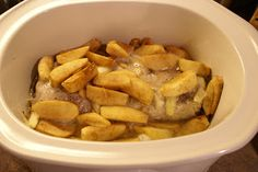 Pork with Apples and Asparagus - crockpot recipe