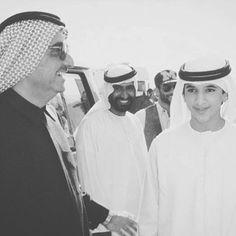 Maktoum bin Rashid bin Saeed Al Maktoum y su sobrino, Rashid bin Mohammed bin Rashid Al Maktoum. Vía: mohammed_mak