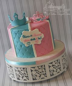 Finding out the gender of your baby is one of the most exciting days during your pregnancy. So that being said, why not make an event out of it? Throwing a gender reveal party for your little baby-. Gender Reveal Party Decorations, Baby Gender Reveal Party, Gender Party, Baby Reveal Cakes, Everything Baby, Baby Time, Reveal Parties, Baby Shower Cakes, Baby Cakes