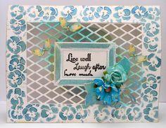 Made by Nicole Dieltjs van Poppel with 115633/0601 CraftEmotions Die - Cutting Grid - ruit / diamond / Rhombus / Card 10,5x14,8cm / 8718736029548