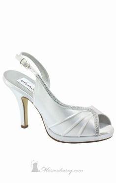 Pleated Embellished Shoe by Benjamin Walk FLORA