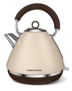 The Sand Special Edition Accents pyramid kettle celebrates Morphy Richards' 80th anniversary as a trusted kitchen appliance brand... and the colour is just divine! Traditional Kettles, Tableware, Kitchenware, Stainless Steel, Kitchen Appliances, Electric, Electric Kettles, Retro Design, Human Height