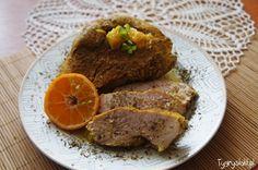 indyk w pomarańczach turkey in orange sauce