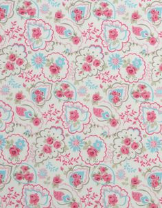 Cotton FabricUsage: Ideal for curtains, blinds, cushions, light upholstery and all your home sewing projects. Home Sew, Fabric Samples, Pink Roses, Different Fabrics, Blinds, Paisley, Cotton Fabric, Upholstery, Sewing Projects