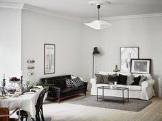 Un estupendo apartamento amplio, abierto y blanco, en el corazón de Suecia.