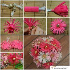 Kwiaty z bibuły - Pomyslowi.net