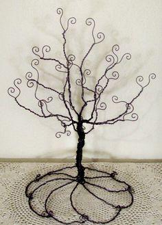 Homemade Wire Jewelry Tree