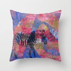 Gel Zebra  Throw Pillow by Rachel Winkelman - $20.00