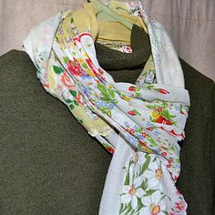 vintage hanky scarves, a great idea for Spring!