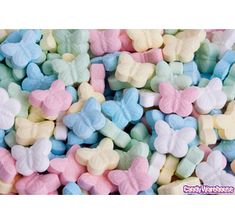 Mini Butterfly Sweet Tarts Candy! so going in my wedding favors