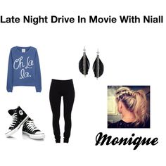 """""""Monique: Late Night Drive In Movie With Niall"""" by ashxzx on Polyvore"""