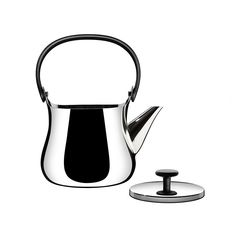 Cha Teapot, Stainless Steel, Alessi