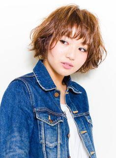 抜け感☆オシャレBOB 【MAKE'S】 http://beautynavi.woman.excite.co.jp/salon/25799?pint ≪ #bobhair #bobstyle #bobhairstyle #hairstyle・ボブ・ヘアスタイル・髪型・髪形 ≫
