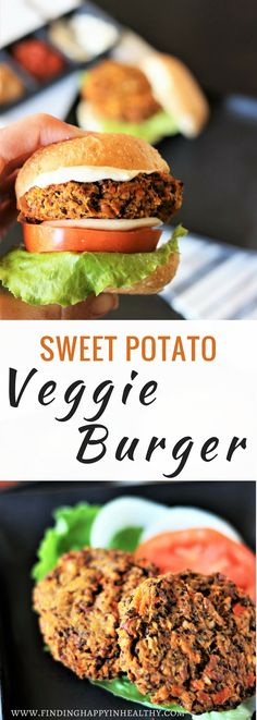 Gluten-Free, Dairy-Free Sweet Potato Veggie Burger - Easy to make and simply delicious.