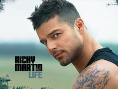 Ricky Martin though gay, had has a great edgy hairstyle that will look good on a lot of guys. You can make it extra edgy by adding some stripes on the sides