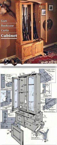 Gun Cabinet Plans - Furniture Plans and Projects | WoodArchivist.com