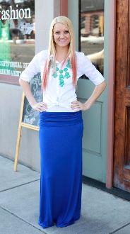Solid Maxi Skirt - neat website!