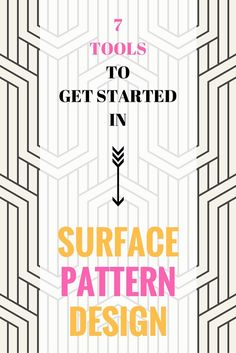 I'm sharing 7 lots of tools to get started in Surface Pattern Design. From online classes right down to computer software and hardware.