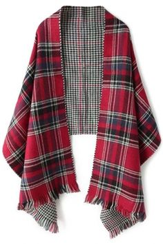 Fashion Classic Scottish Plaid Fringed Scarf - OASAP.com Free Shipping+$15 Coupon!