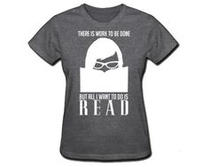 THIS is my life...wow, I need to own this!  Womens Geek T-Shirt, Library Reading Tshirt, I Love Books, Librarian Tshirt, Bookworm, Nerd Short Sleeve Black Friday Etsy Cyber Monday Etsy. $26.00, via Etsy.