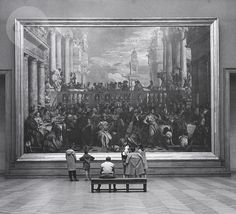 Children in the Louvre, Paris, by John Gutmann 1957