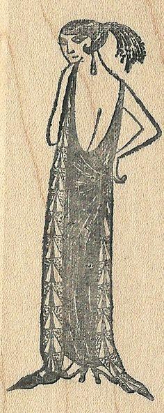 Edward Gorey Kidstamps Woman rubber stamp