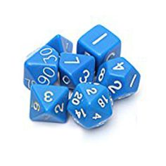 New Sale Set 7PCS Dice Dice Die D4~D20 for Games Dungeons & Dragons RPG Dungeons and Dragons D&D blue