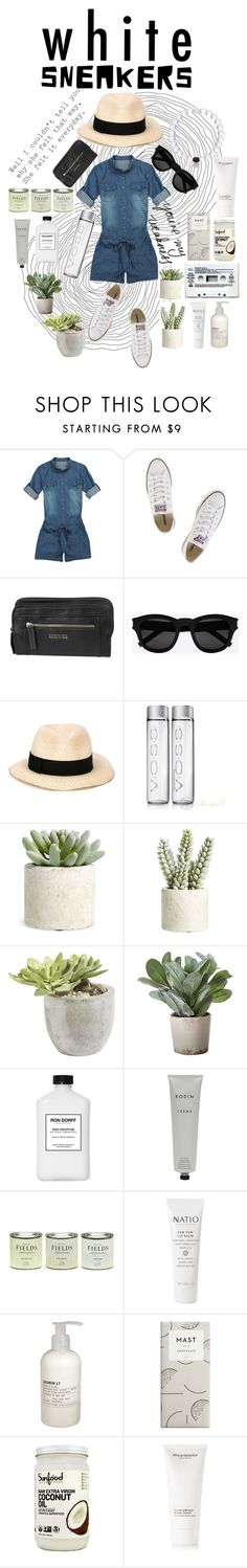 """""""White Sneakers Entry"""" by bernicemagno on Polyvore featuring Converse, Kenneth Cole Reaction, Yves Saint Laurent, Eugenia Kim, Allstate Floral, Ethan Allen, Torre & Tagus, Rodin Olio Lusso, LAND and Natio"""