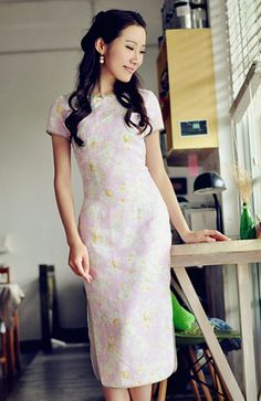 Summer Retro Short Sleeve Cheongsam Chinese dress by RockRollRefresh.com 556be859324d