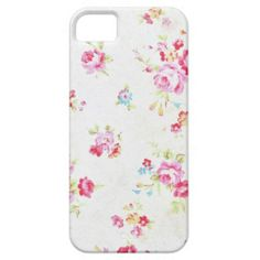 iPhone 5/5s white floral