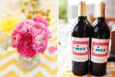 labels on wine bottles