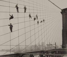 Painting the Brooklyn Bridge, 1914