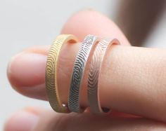 40% OFF Custom FingerPrint Ring Personalized by CaitlynMinimalist