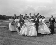 LIFE magazine sent photographer Lisa Larsen, then in her late 20s, to cover the highly publicized event. Her photos from the occasion offer not only a solid before-and-after record of the nuptials, but a surprisingly intimate chronicle of one of the most high-profile American weddings of the 20th century.
