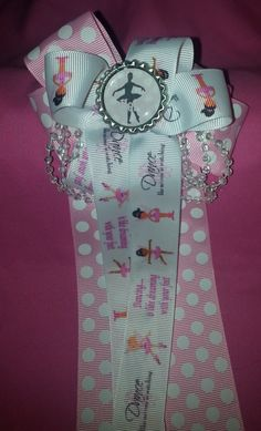 Dance Cheer Style Bow by GumpiegirlsGifts on Etsy